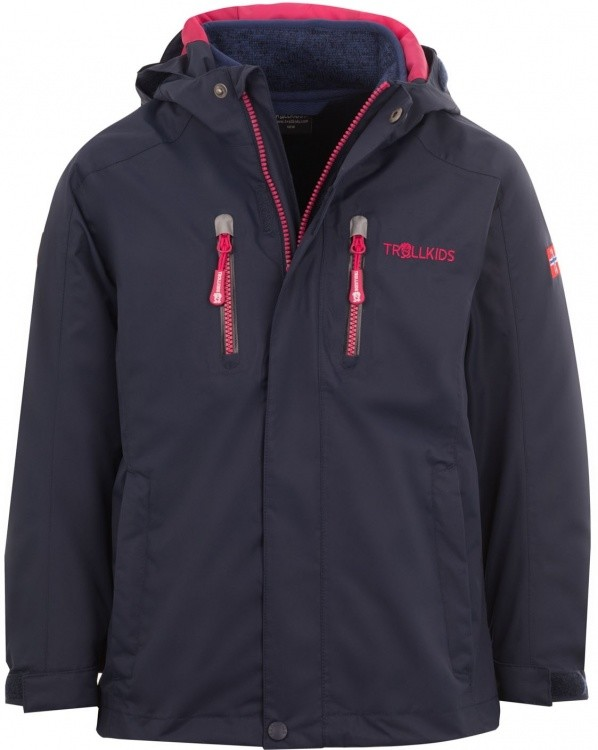 Trollkids Kids Lofoten 3in1 Jacket Trollkids Kids Lofoten 3in1 Jacket Farbe / color: navy/pink ()
