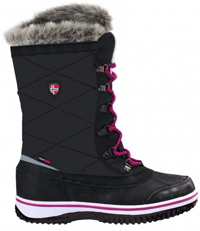 Trollkids Girls Holmenkollen Snow Boots Trollkids Girls Holmenkollen Snow Boots Farbe / color: steel grey/magenta ()