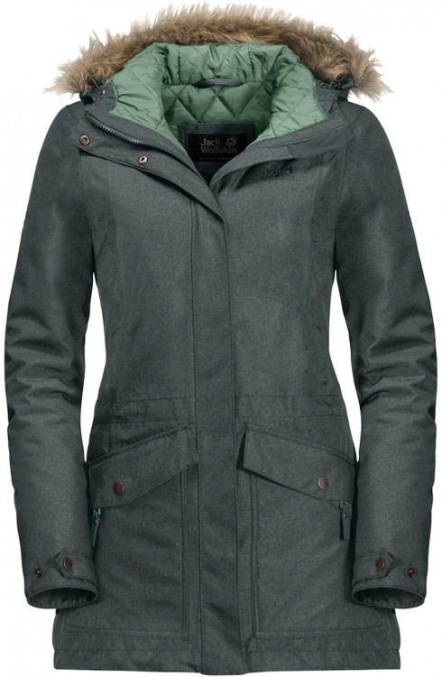 Jack Wolfskin Coastal Range Parka Women Jack Wolfskin Coastal Range Parka Women Farbe / color: greenish grey ()