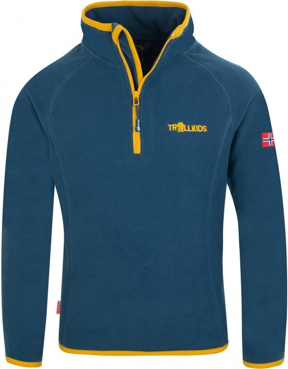 Trollkids Kids Nordland Half Zip Trollkids Kids Nordland Half Zip Farbe / color: mystic blue/golden yellow ()