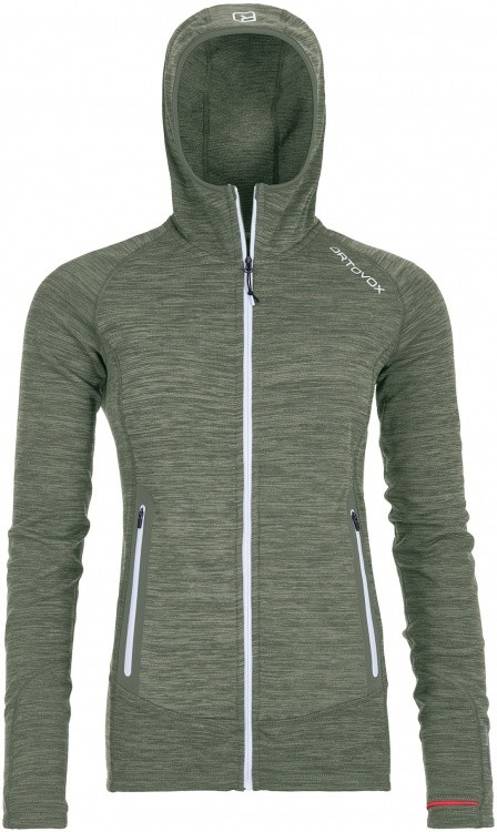 Ortovox Fleece Light Melange Hoody Women Ortovox Fleece Light Melange Hoody Women Farbe / color: green forrest blend ()