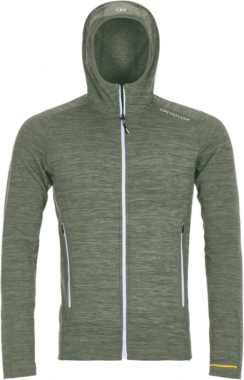 Ortovox Fleece Light Melange Hoody Men Ortovox Fleece Light Melange Hoody Men Farbe / color: green forrest blend ()