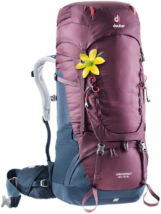 Deuter Aircontact 50+10 SL Deuter Aircontact 50+10 SL Farbe / color: blackberry-navy ()