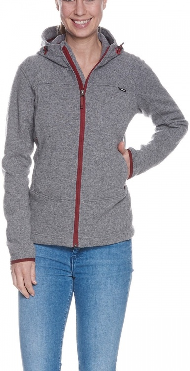 Tatonka Lakho Womens Hooded Jacket Tatonka Lakho Womens Hooded Jacket Farbe / color: pebble grey ()