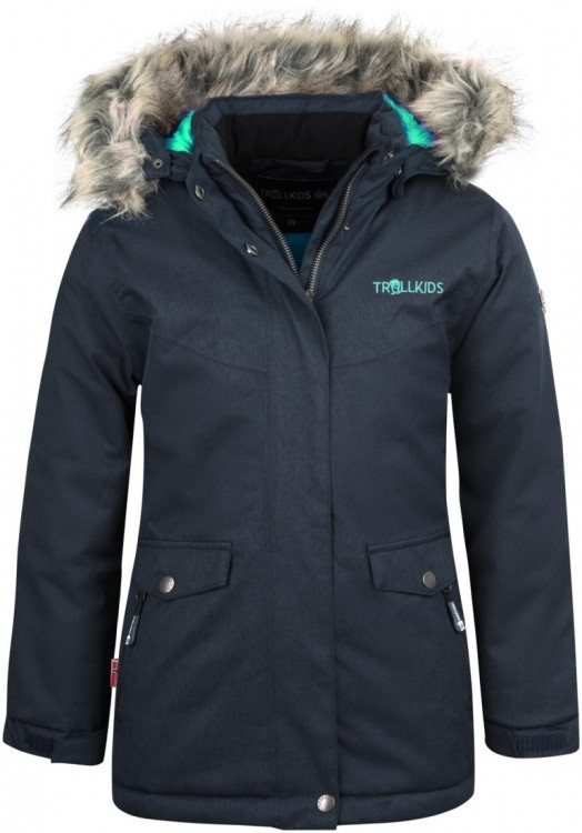 Trollkids Girls Oslo Coat XT Trollkids Girls Oslo Coat XT Farbe / color: anthracite/mint ()