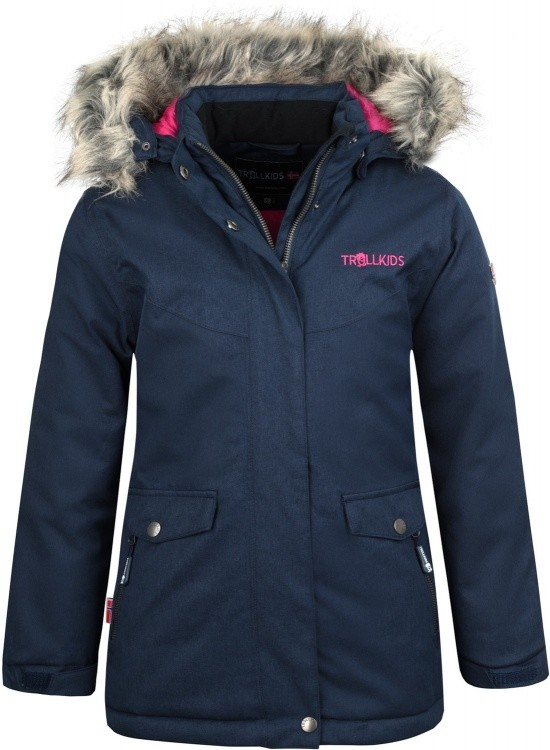 Trollkids Girls Oslo Coat XT Trollkids Girls Oslo Coat XT Farbe / color: navy/magenta ()