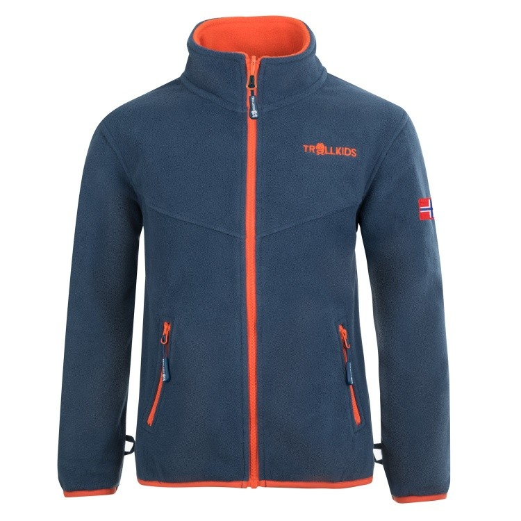 Trollkids Kids Oppdal Jacket XT Trollkids Kids Oppdal Jacket XT Farbe / color: mystic blue / orange ()