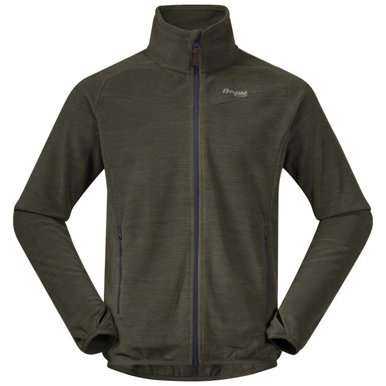 Bergans Hareid Fleece Jacket NoHood Bergans Hareid Fleece Jacket NoHood Farbe / color: seaweed melange ()