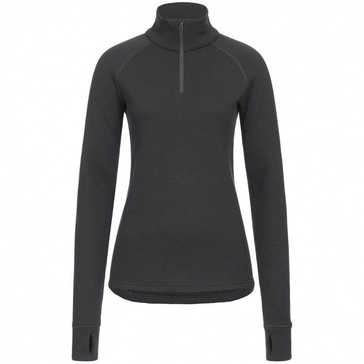 Merinopower Women 2.5 Frost LS Zip Shirt Air Waffle Merinopower Women 2.5 Frost LS Zip Shirt Air Waffle Farbe / color: black ()