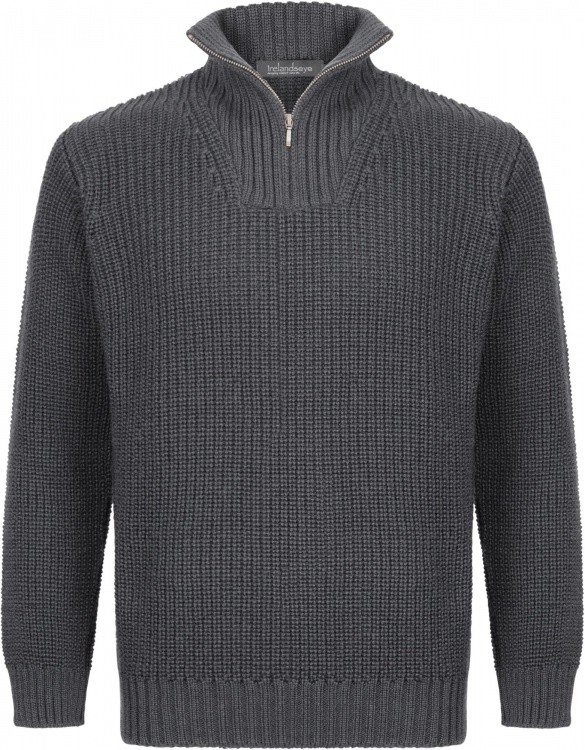 IrelandsEye Reefer Ribbed Zip Neck Sweater Men IrelandsEye Reefer Ribbed Zip Neck Sweater Men Farbe / color: graphite ()