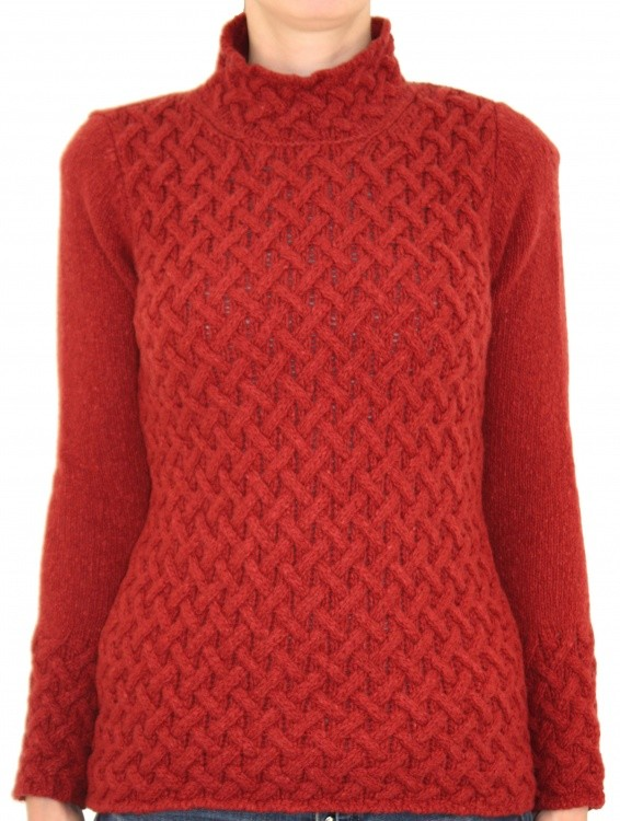 IrelandsEye Trellis Sweater Women IrelandsEye Trellis Sweater Women Farbe / color: earth red ()