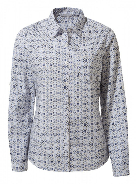 Craghoppers Womens Kiwi II Long Sleeved Shirt Craghoppers Womens Kiwi II Long Sleeved Shirt Farbe / color: galaxy blue print ()