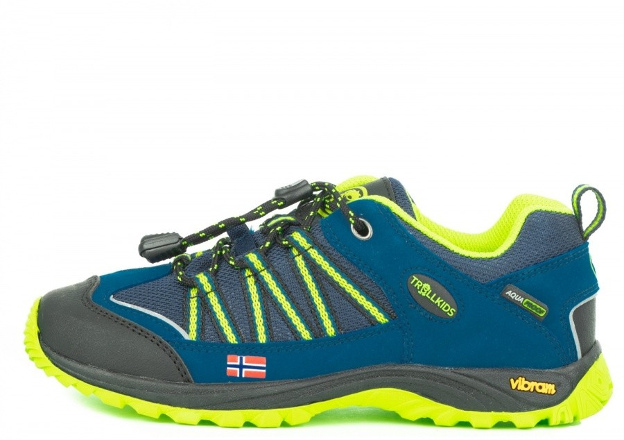 Trollkids Kids Lofoten Hiker Low Trollkids Kids Lofoten Hiker Low Farbe / color: blue/lime ()