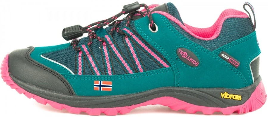Trollkids Kids Lofoten Hiker Low Trollkids Kids Lofoten Hiker Low Farbe / color: smaragd/rubine ()