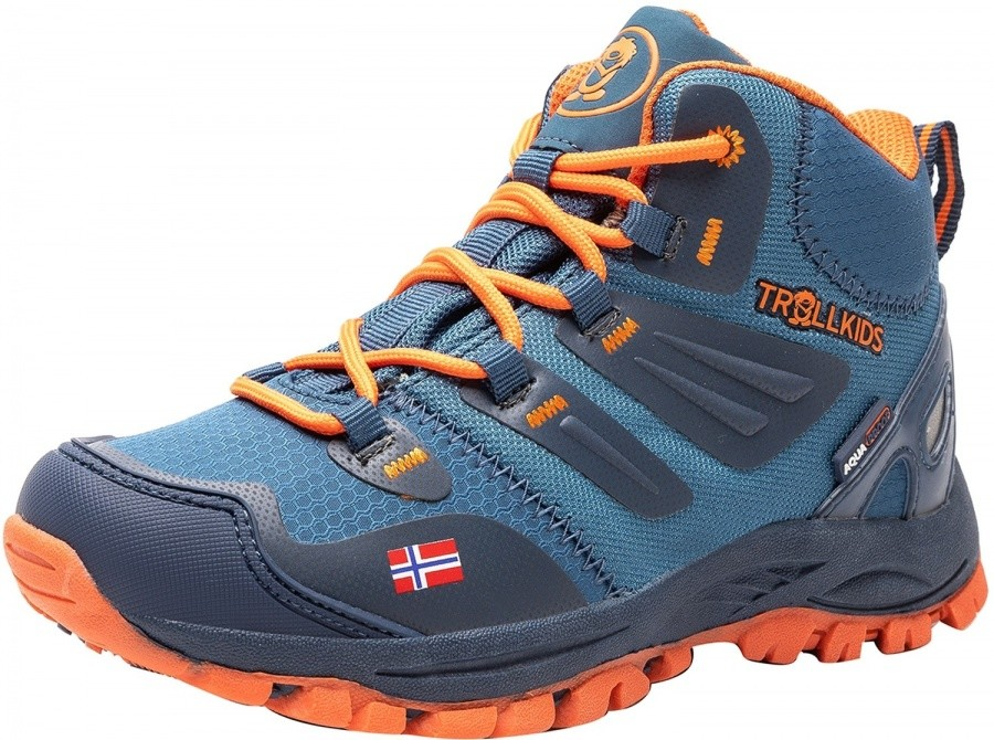 Trollkids Kids Rondane Hiker Mid Trollkids Kids Rondane Hiker Mid Farbe / color: mystic blue/orange ()