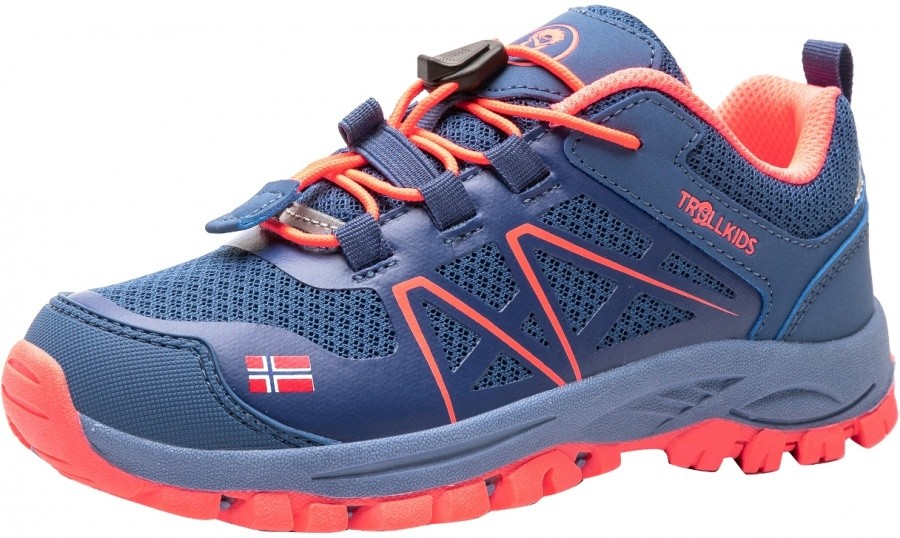 Trollkids Kids Sandefjord Hiker Low Trollkids Kids Sandefjord Hiker Low Farbe / color: midnight blue/coral ()