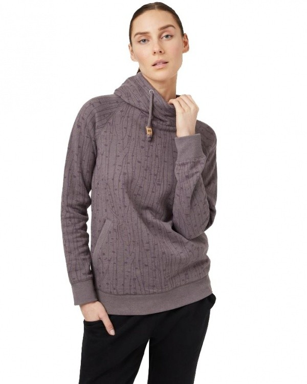 Tentree Womens Burney Hoodie Tentree Womens Burney Hoodie Farbe / color: boulder grey-birch AOP ()