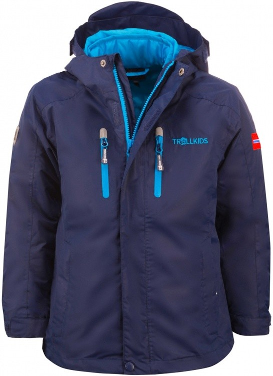 Trollkids Kids Hammerfest Jacket XT 3in1 Trollkids Kids Hammerfest Jacket XT 3in1 Farbe / color: navy/light turquoise ()