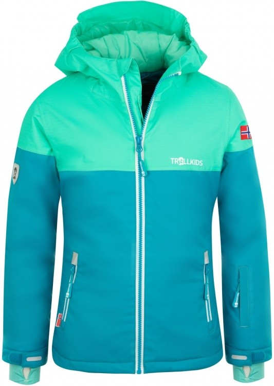 Trollkids Girls Hallingdal Jacket Trollkids Girls Hallingdal Jacket Farbe / color: light petrol/dark mint/white ()