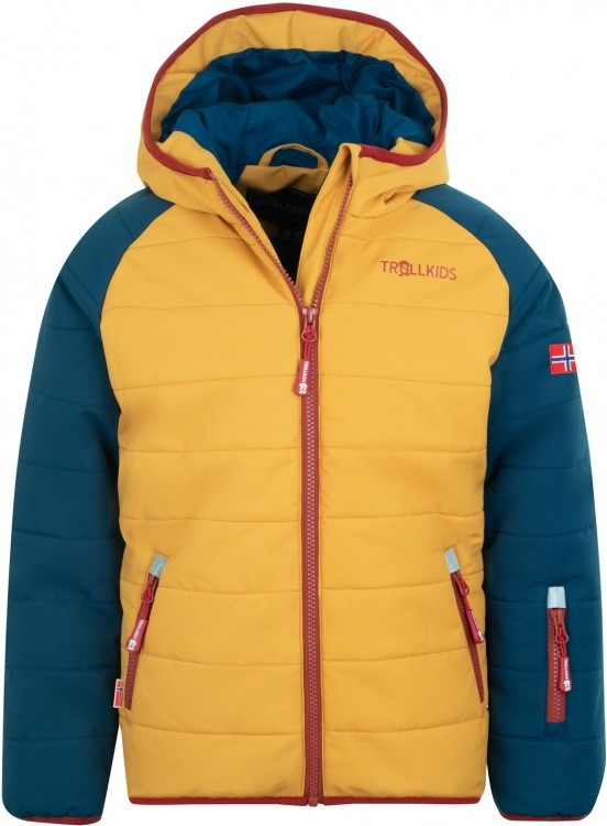 Trollkids Kids Hafjell Snow Jacket Pro Trollkids Kids Hafjell Snow Jacket Pro Farbe / color: mystic blue/golden yellow/rusty red ()