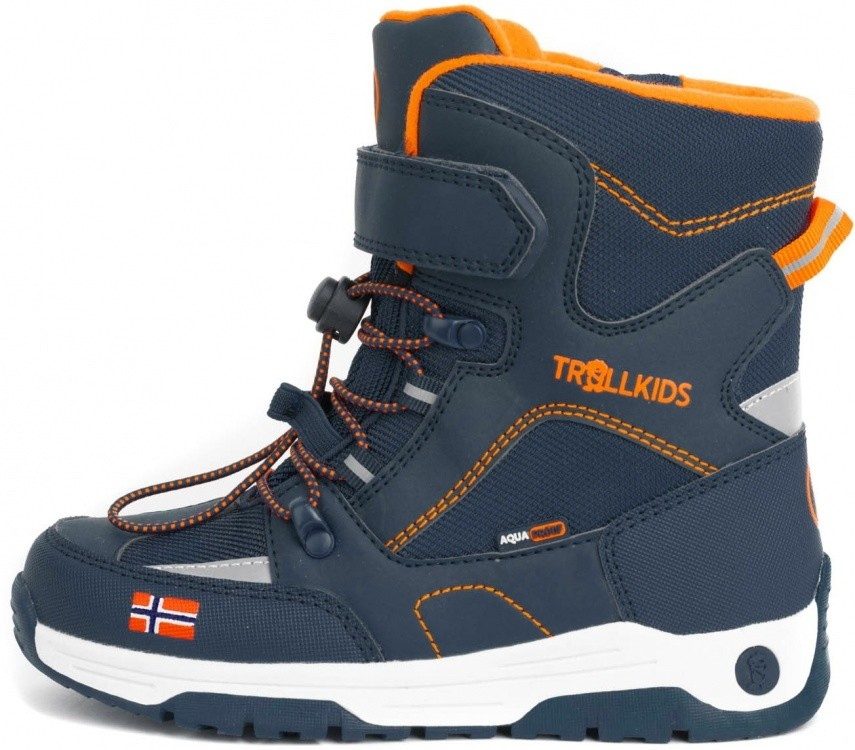 Trollkids Kids Lofoten Winter Boots XT Trollkids Kids Lofoten Winter Boots XT Farbe / color: mystic blue/orange ()