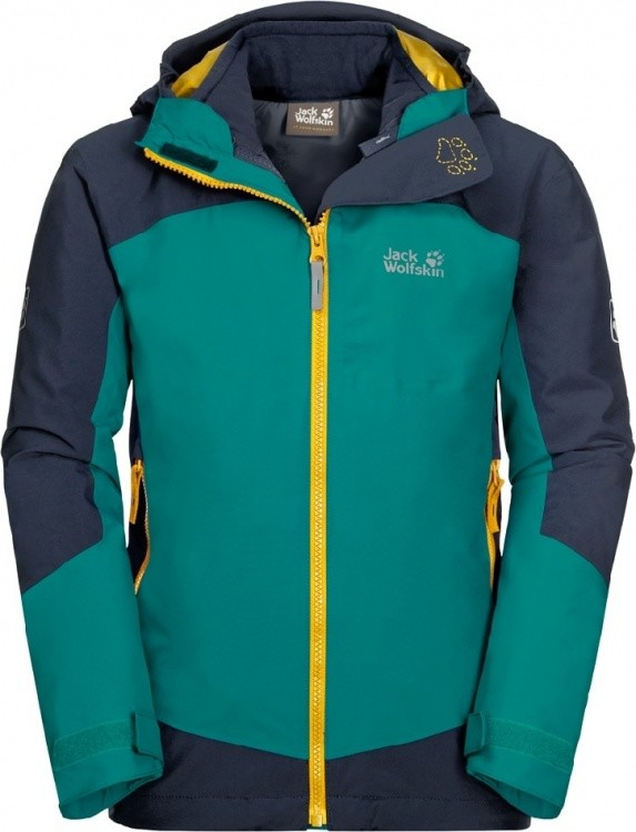 Jack Wolfskin Ropi 3in1 Jacket Kids Jack Wolfskin Ropi 3in1 Jacket Kids Farbe / color: green ocean ()