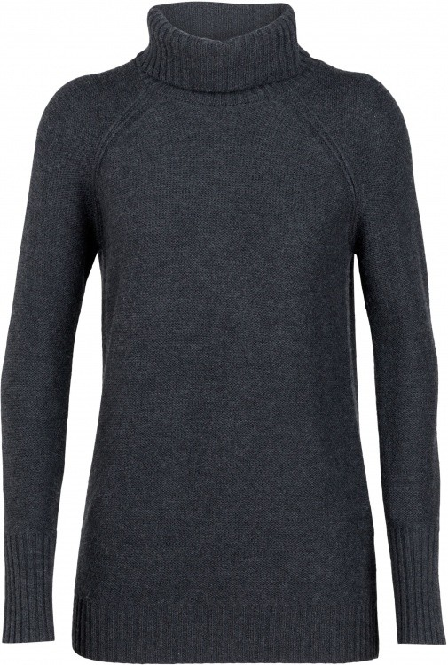Icebreaker Waypoint Roll Neck Sweater Women Icebreaker Waypoint Roll Neck Sweater Women Farbe / color: char heather ()