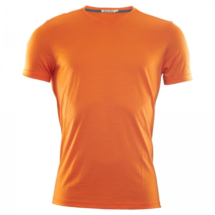 Aclima Lightwool T-Shirt Man Aclima Lightwool T-Shirt Man Farbe / color: orange popsicle ()
