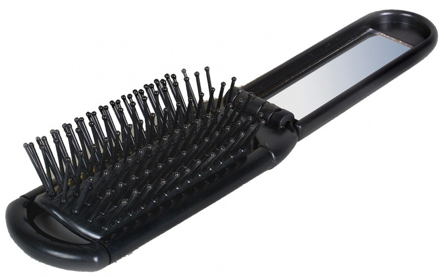 Basic Nature foldable hair brush Basic Nature foldable hair brush Farbe / color: schwarz ()