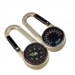 Munkees Key carabiner with compass and thermometer