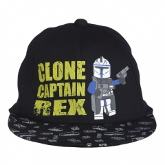 LEGO wear Alec 151 Star Wars Mütze, Clone Captain Rex black - Größe 54cm