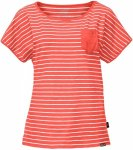 hot coral stripes