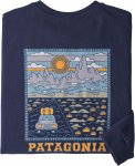 Patagonia Mens LS Summit Road Resposibili-Tee